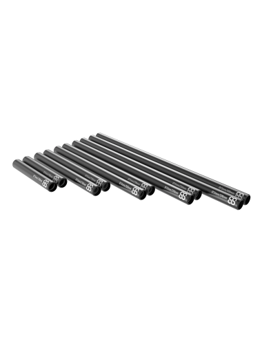 15mm Black Rods 2pcs