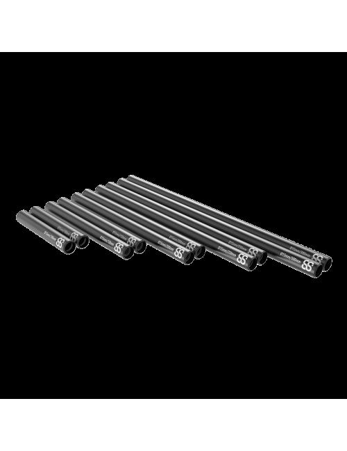 15mm schwarze Stangen 2 Stück
