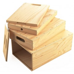 Holzkisten Verschachtelter Set - Apple Box Nested Set