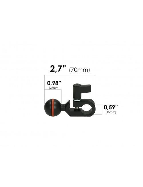 Zacisk pręta Vario 15 mm