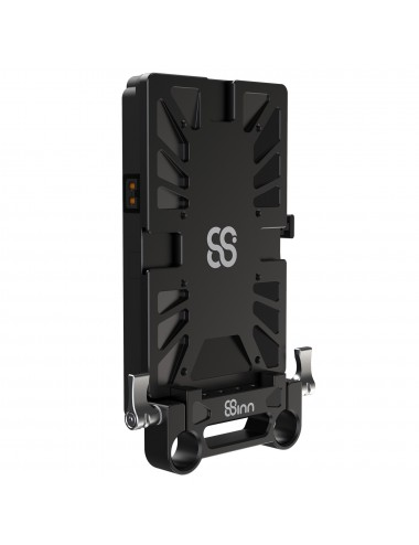 Battery Mounting Plate With 15MM Rod Clamp + V-Mount Battery Plate