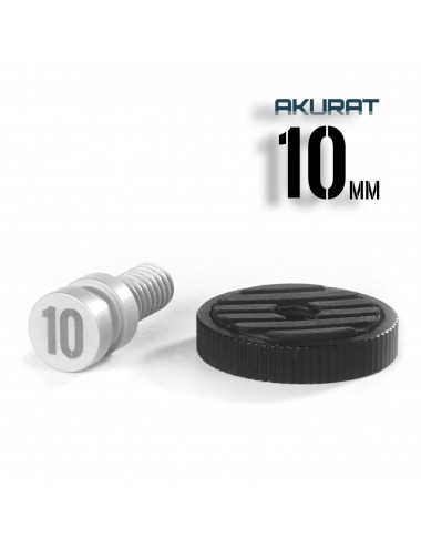 10mm 1/4 Long Thread Accessory Adapter with Contra-Nut