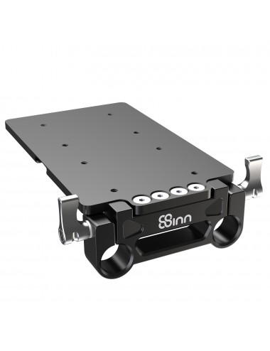 Battery Mounting Plate with 15mm Rod Clamp