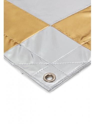 Tkanina Refleksyjna Shiny Silver/Gold Check