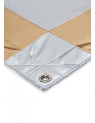 Tkanina Refleksyjna Matt Silver/Gold Check
