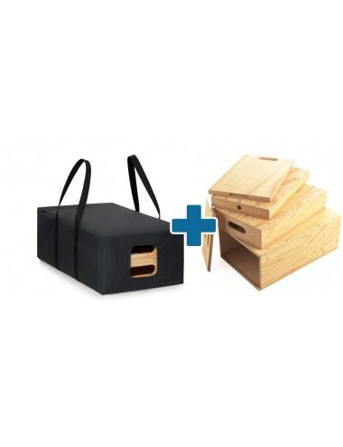 Zestaw Apple Box Full Nested z Torbą transportową