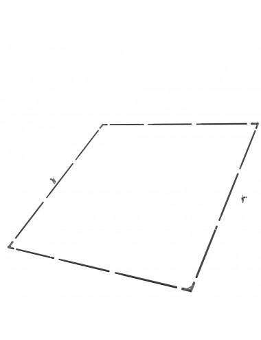 Zestaw ramy napowietrznej 366x366 (12 'x 12')