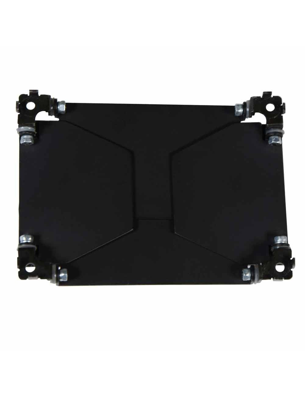 Magnetic barndoors with diffuser for on-camera light